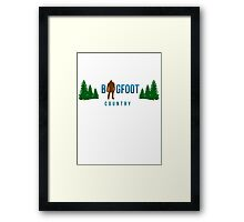 Bigfoot Country  Framed Print
