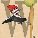 W is for WOODPECKER by busymockingbird