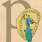 P is for PEACOCK by busymockingbird
