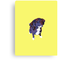 Bright Yellow Pup Canvas Print