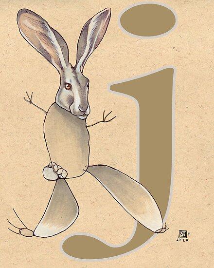 J is for JACKRABBIT by busymockingbird