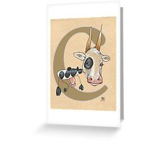 C is for COW Greeting Card