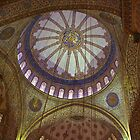 Looking Up in the Blue Mosque by Barbara  Brown