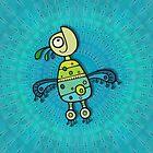 Psychedelic Love Bird by Dooda Creations