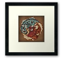 The Tiger and the Dragon - Print Framed Print