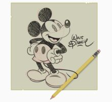 Walt Disney - Mickey Sketch by Eduardo Suñer