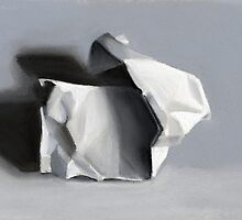 Crumpled Paper Sculpture by ria hills