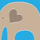 Safari Elephant - Blue by Elephant Love