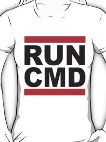 Run Command Black Text T-Shirt