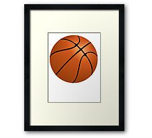 Orange Basketball Framed Print