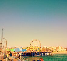 Santa Monica Pier (Edited)- California by Cody Ayers