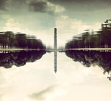 Washington Monument Reflections by omhafez