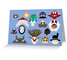 Ghibli character greeting card Greeting Card