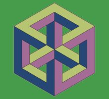 Penrose Cube - Green Purple Blue by VanHogTrio