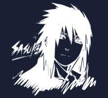 【1000+ views】NARUTO: Sasuke T-shirt in White by Ruo7in