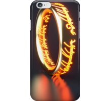 The rings iPhone Case/Skin