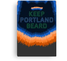Keep Portland Beard Canvas Print