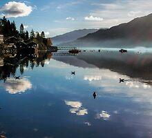 Reflections of Lochgoilhead Scotland by Lynn Bolt