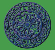 Coalhole cover in blue by Alan Hogan
