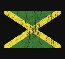 Jamaican Flag print for black background by portispolitics
