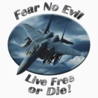 F-15 Eagle Fear No Evil by hotcarshirts