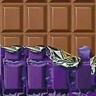 Sweet Tooth - Choclate Candy Bar in Purple Foil by PhuniPhone