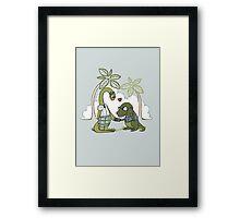 DiNERDsaur Love Framed Print