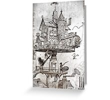 Aerial House Maison Greeting Card