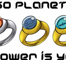 Planeteer Rings - Go Planet! - Black Font Sticker
