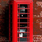 Red Phone Box London England UK by Val  Brackenridge