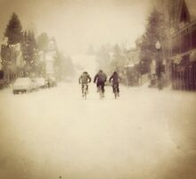 Winter Cyclists by hiddenriver123