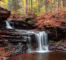 October Evening Below R B Ricketts Falls by Gene Walls
