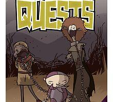 Sidekick Quests Walking Dead Print by SidekickQuests