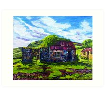 In the Townland of Gortnagory, Glencloy, County Antrim., Oil and acrylic on box canvas, 10 x 12 inch Art Print