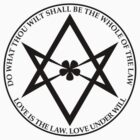 Aleister Crowley - DO WHAT THOU WILT SHALL BE THE WHOLE OF THE LAW - Occult - Thelema (Black On White) by James Ferguson - Darkinc1