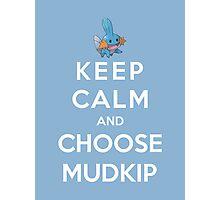 Keep Calm And Choose Mudkip Photographic Print