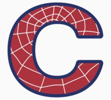 C letter in Spider-Man style by florintenica