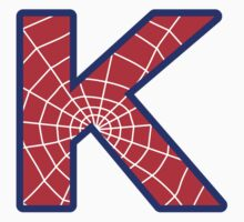 K letter in Spider-Man style by florintenica