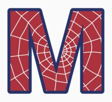 M letter in Spider-Man style by florintenica