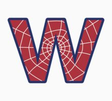 W letter in Spider-Man style by Stock Image Folio