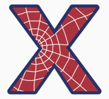 X letter in Spider-Man style by florintenica