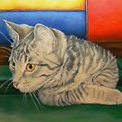 Kitten in a Side Pocket 2 by Pam Humbargar