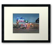 Historic Rt. 66 Blue Swallow Motel Framed Print