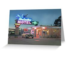 Historic Rt. 66 Blue Swallow Motel Greeting Card