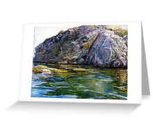 Diving Off Lion's Head Catalina Greeting Card