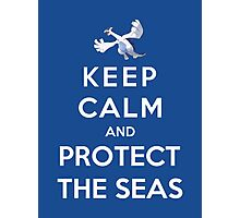 Keep Calm And Protect The Seas Photographic Print
