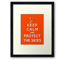 Keep Calm And Protect The Skies Framed Print