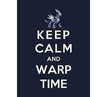 Keep Calm And Warp Time Photographic Print