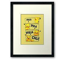PIKA PIKA PIKA CHU Framed Print