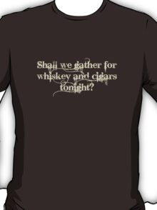 Whiskey and Cigars Dishonoured (Cream) T-Shirt